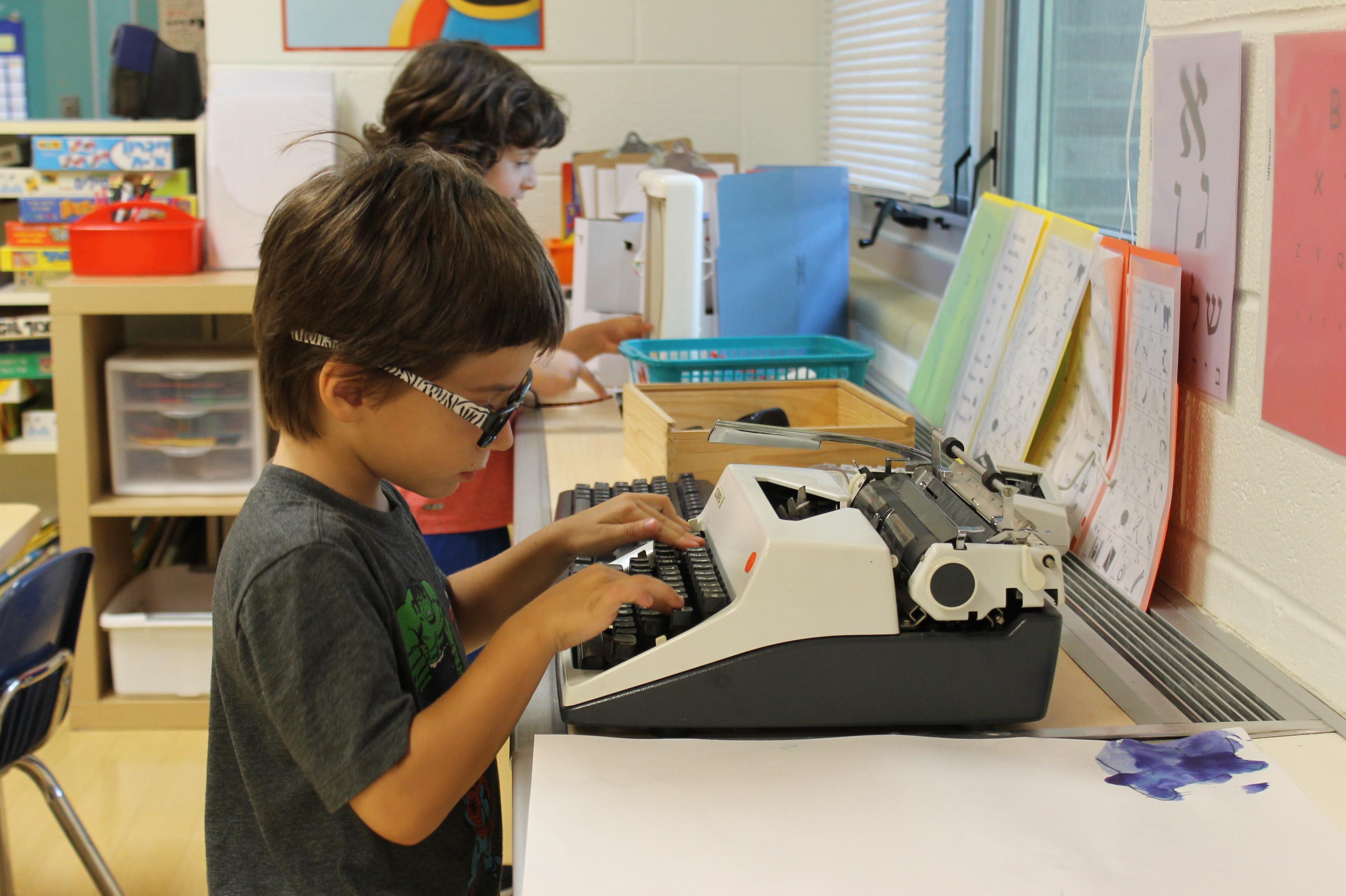 Student at Typewriter